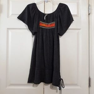 Free People   Cashmere Beaded embroidered tunic M